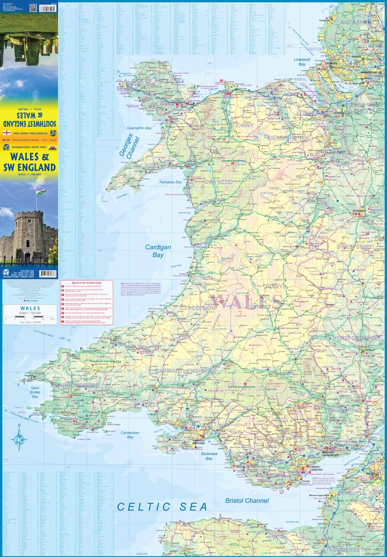 England/Wales Travel Reference map